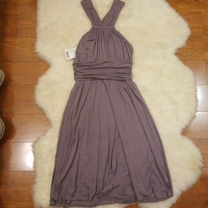 NWT Anthropologie Gray Violet Dress XS